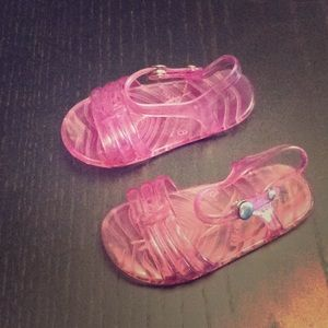 Other - NWOT Pink jelly sandals Size 6-12 Months